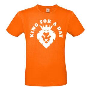 T-shirt King for a day. Koningsdag. Hb-webshop onderdeel van HB-Creations Tilburg Reeshof.
