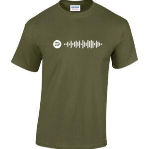 Spotify playlist scan shirt. Laat de werled weten waar je naar luistert. Dit shirt wordt voorzien van een unieke scancode. HB-Webshop onderdeel van HB-Creations Tilburg Reeshof.